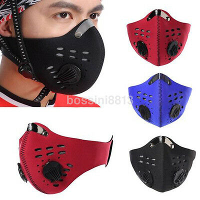 Unisex Man's Activated Carbon Dustproof Ski Bicycle Cycling Half Face Mask 1x UK
