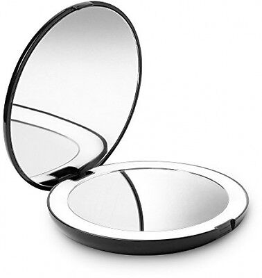 Fancii LED Lighted Travel Makeup Mirror, 1X/10X Magnification - Daylight Led,