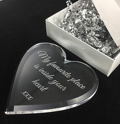 Acrylic Heart Anniversary gift Birthday gift Valentines Day Gift for Her