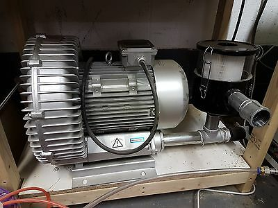 CNC vacuum pump, side channel blower, 5.5kw, 3ph, 530 M3 /hr - NEW