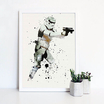 Stormtrooper Star Wars Movie Poster Print Wall Art Canvas Painting Home Decor