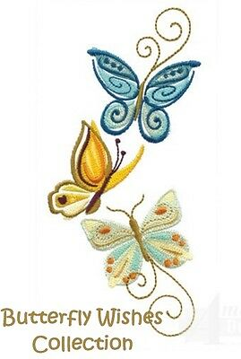 Butterfly Wishes Collection - Machine Embroidery Designs On Cd