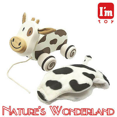 Paddie Pull Along Pet - CALFIE - I'm Toy brand, from Eco sustainable rubber wood