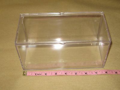 "5 Clear Plastic Lucite Acrylic Display Storage Box For Beanie Babies 8"" X 4"""