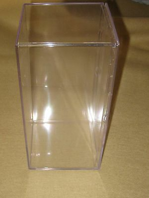 "4 Clear Plastic Lucite Acrylic Display Storage Box For Beanie Babies 8"" x 4"""