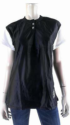 NEW Venus Blank Baseball Jersey Unisex Top Softball Sport Black