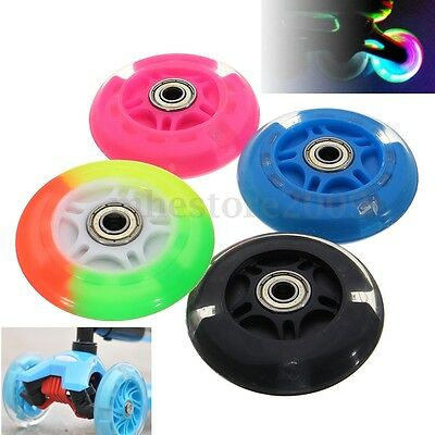 Mini LED SCOOTER WHEELS 80-120mm LIGHT FLASH STUNT PUSH ABEC-7 BEARINGS Flashing