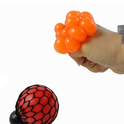1PC Hot Anti Stress Face Reliever Grape Ball Autism Mood Squeeze Relief Toy GO,