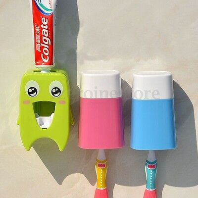Automatic Toothpaste Squeezer Children Gift Protection Adhesive Stick Bath Set