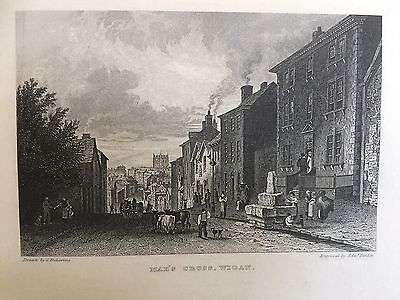 1867 Print ; Mab's Cross, Wigan, Greater Manchester
