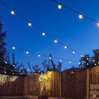 8M Extendable Outdoor Garden Party Festoon Bulb Wedding Globe Led String Lights