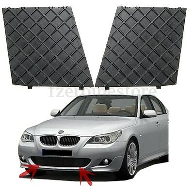 2pc Front Bumper Lower Mesh Grill Grille Trim Left Right For BMW E60 E61 M Sport