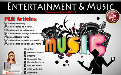 100+ PLR Articles on Entertainment and Music Niche Private Label Rights