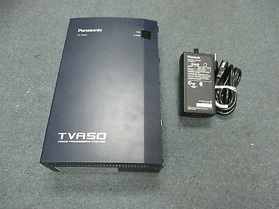 Panasonic KX-TVA50 Voice Mail Voice Processing System 2 Port 4 Hour & Power #B