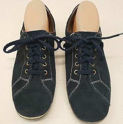Dexter 8.5M Bowling Shoes Blue Leather Right Handed RH Vintage