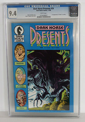 CGC 9.4 NM Dark Horse Presents #24, first Aliens in comic books. White pages