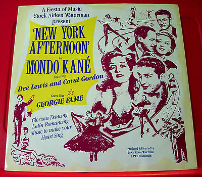 "Mondo Kane/Georgie Fame New York Afternoon 12"" PC UK ORIG 1986 PWL Lisson VINYL"