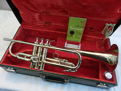 Nice 1966 Holton Collegiate T602 Student Trumpet -Plays/Works Great - Make Offer