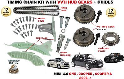 For Mini N12 B14A N16 B16A N12 16A N18 B16B Timing Chain Kit + Vvt Hub Gears
