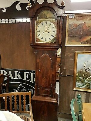 Antique Scottish longcase clock Alex Black Kircaldy