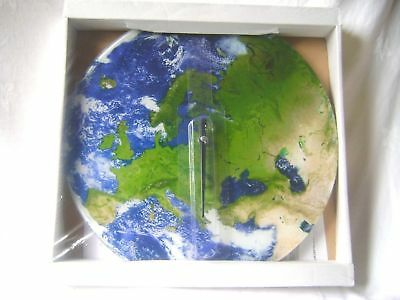 New Wall Picture Clock Europe Asia Map Eurasia Earth Globe Satellite Image Ootb
