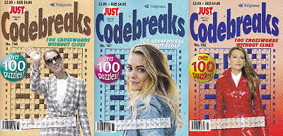 Codebreaks Book - 3 Book set - 300 Puzzles - New  (Set 115)