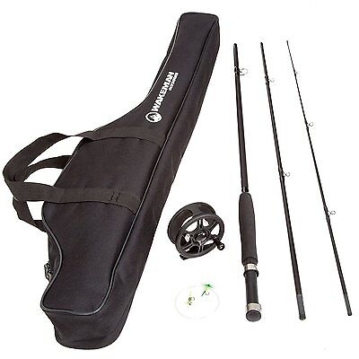 Fly Fishing Gear Rod And Reel Combo Kit Line Flies Carry Bag Fish Equipment Best