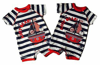 Baby Boys Girls Romper Suit NEW Jumpsuit Outfit AhoyBear 0 3 6 9 12 18 24 Months