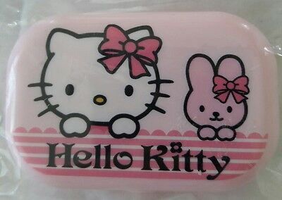 Hello Kitty Contact Lens Case 4 Pieces Set with Mirror, NEW & Cute