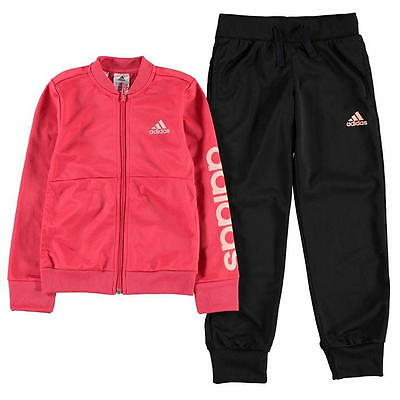adidas Linear Tracksuit Junior Girls SIZE 13-14 Years REF 2895-