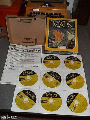 2002 National Geographic Complete 8 CD- ROM BOX SET