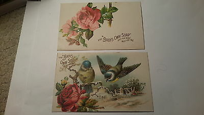 2 Vintage Postcards  - Use  ''baby's Own Soap'' Best For Baby Best For You
