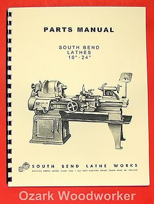 "SOUTH BEND 10"" 13"" 14.5"" 16"" & 16/24"" Lathes Parts Manual 0664"