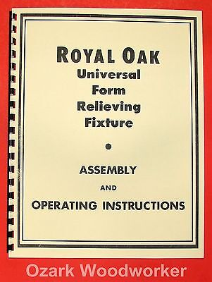 ROYAL OAK Universal Form Relieving Fixture & Grinder Instructions Manual 0643