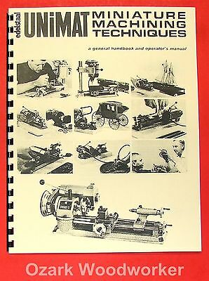 UNIMAT-SL Miniature Machine Handbook & Techniques Operator's Manual 0729