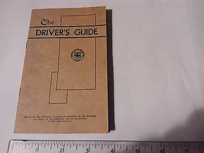 Vintage Booklet  - The Driver's Guide Manitoba 1940
