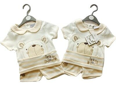 Baby Boys Girls Kids T Shirt Top Shorts Summer Outfits Set 0 3 6 9 Months