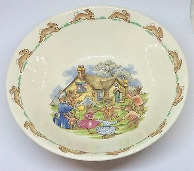 Vintage Bunnykins Royal Doulton Ring Around The Rosie Bowl Easter Collectibles