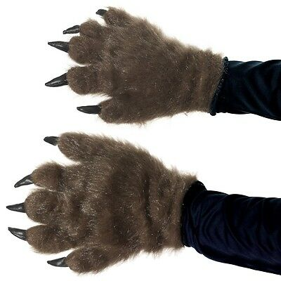 Hairy Monster Hands Costume Accessory Adult Halloween