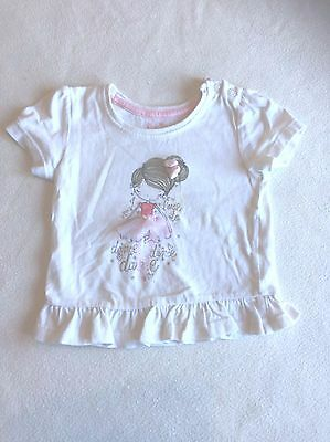Baby Girls Clothes 6-9  Months - Cute  T Shirt Top -