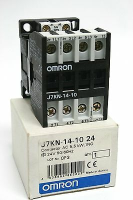 J7Kn-14-10 Omron Contactor Ac 7.5 Kw 25A Ac3 24V Ac Coil 50/60 Hz &1 No Contact