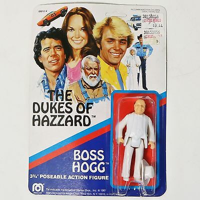 "Dukes of Hazzard Boss Hogg 3 3/4"" action figure on card-Mego 1981 NIP"