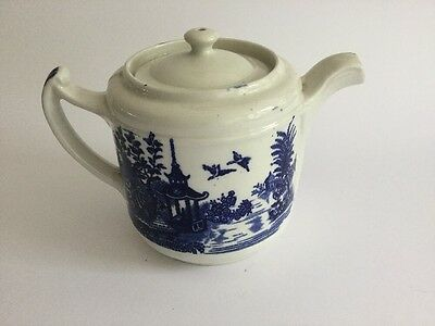 Vintage Olde Alton Ware / Swinnertons Staffordshire Willow Pattern Teapot
