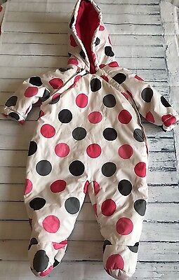Baby Girls Clothes 3-6 Months- Pretty Girl Snowsuit Pramsuit All in One