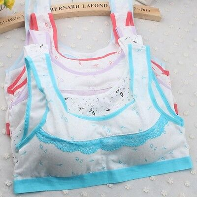 SALE Girls Teenage Pretty Bra In 3 Colours,Blue,Light Blue Or Pink  30-36 Cms