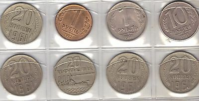 Lot Of 8 Coins From The Soviet Union