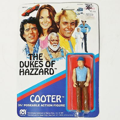 "Dukes of Hazzard Cooter 3 3/4"" action figure on card-Mego 1981 NIP"
