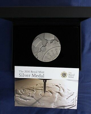 2010 Royal Mint 155g Silver 65mm Medal in Case with COA   (A6/5)
