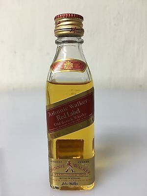 Mignon Miniature Johnnie Walker Red Label Old Scotch Whisky 5cl 40% A.