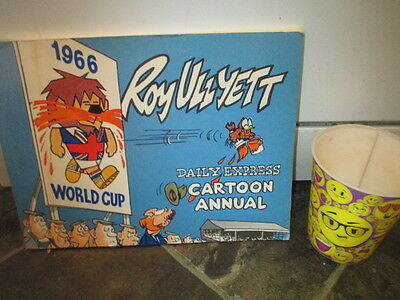World Cup Wille Cover Cartoon Book Rare 1966 World Cup Book#1